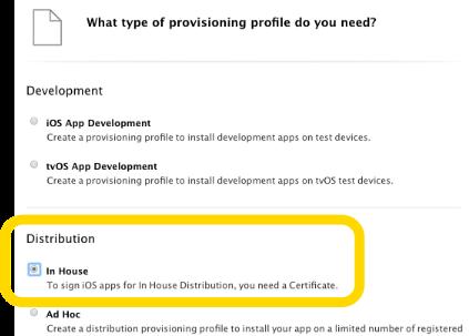 Creating the iOS® Provisioning Profile – Staffbase