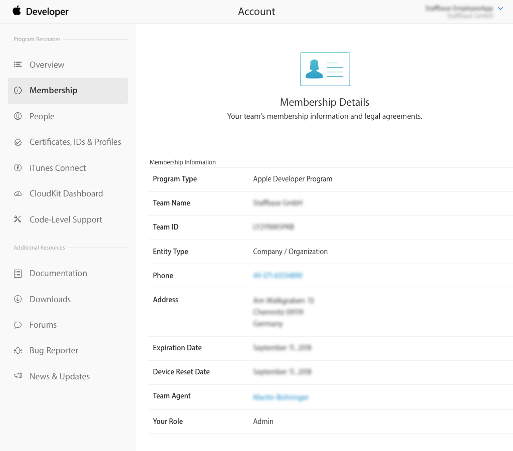 Apple App Store Transferring The App To A New Account Staffbase
