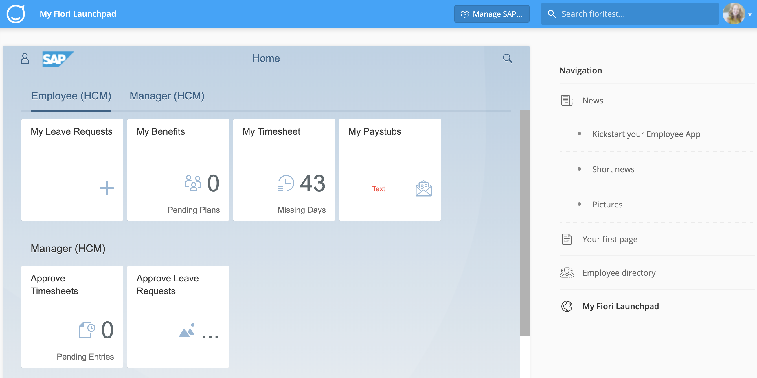 Embedding HR Services via the SAP Fiori® Launchpad – Staffbase
